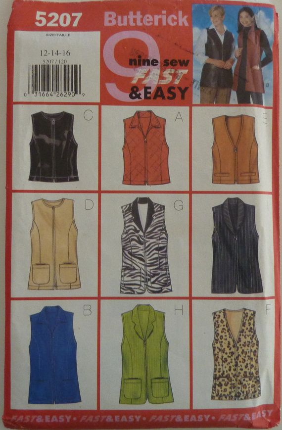 9 best women\'s vest sewing patterns images on Pinterest | Factory ...