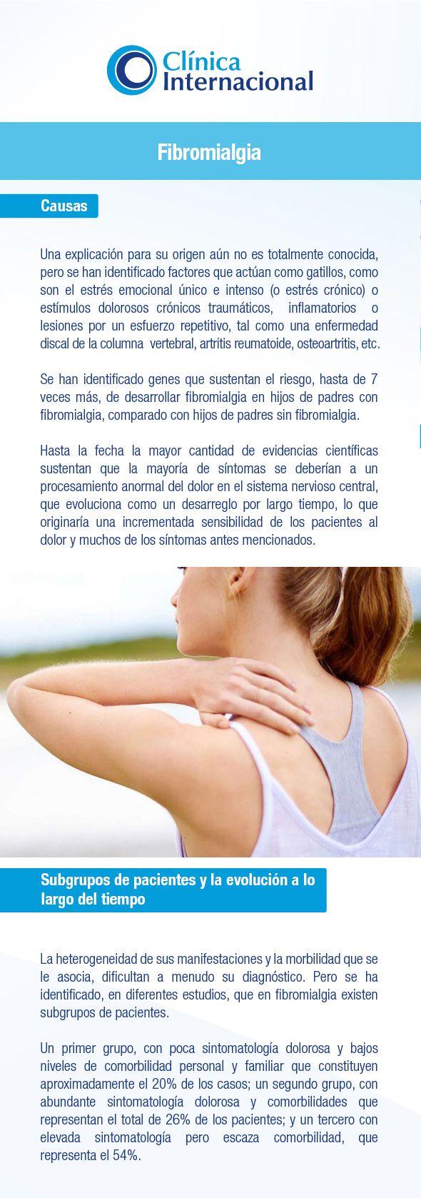 Fibromialgia: Síntomas, causas y tratamiento | Clínica Internacional