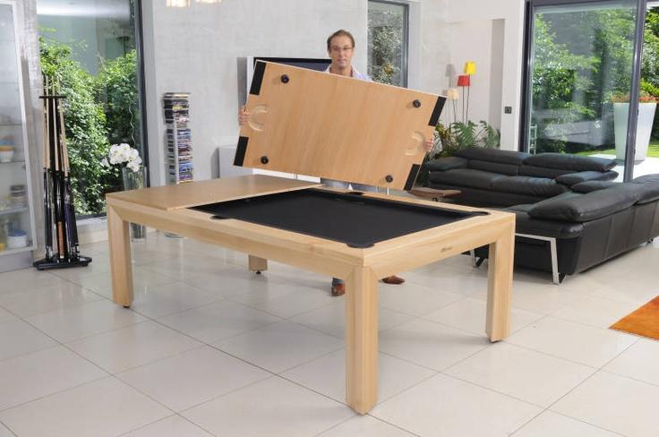 Mesa de billar convertible ecodise o chevillotte heimo 15 - Banco convertible en mesa ...