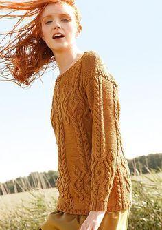 Хомякоз-арановый свитер свитер женский свитер с аранами свитер свитер спицами Rebecca Rebecca 60 мои схемы схема без описания