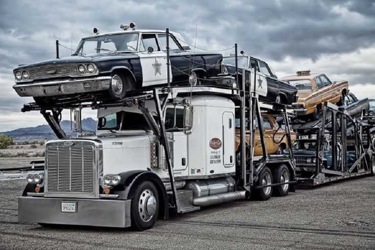 Peterbilt Transporter Hauling 1960 S Retro Cars Police Cars And