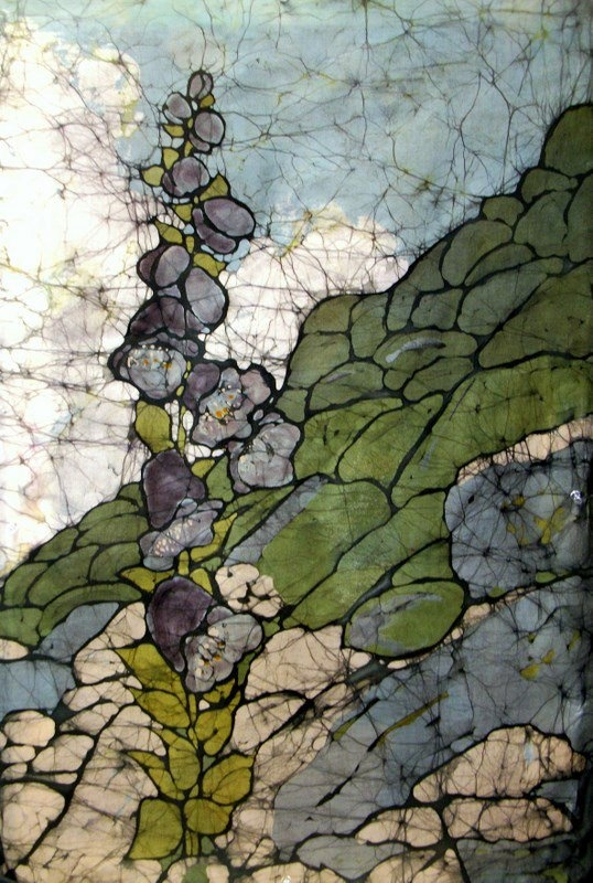 Digitail - Batik on Cotton Muslin - Kristine Allphin Brakenhoff is an award winning artist. Her experience and education in illustration and graphic design brings an original style, sensitivity and craftsmanship to her batik work. --  To see a gallery of original framed fine art batiks or to learn of upcoming exhibits and workshops, please visit her website at http://kristine-allphin.artistwebsites.com/