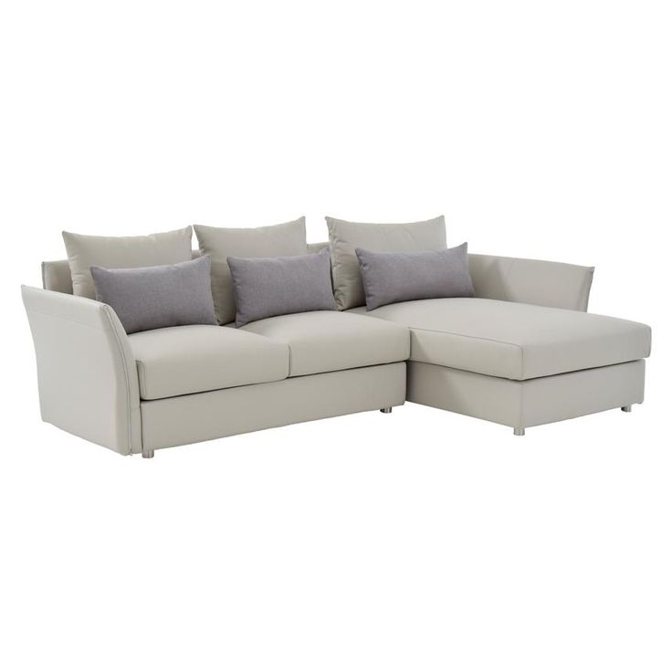"""Khalid 103"""" Leather Sofa w/Right Chaise"""