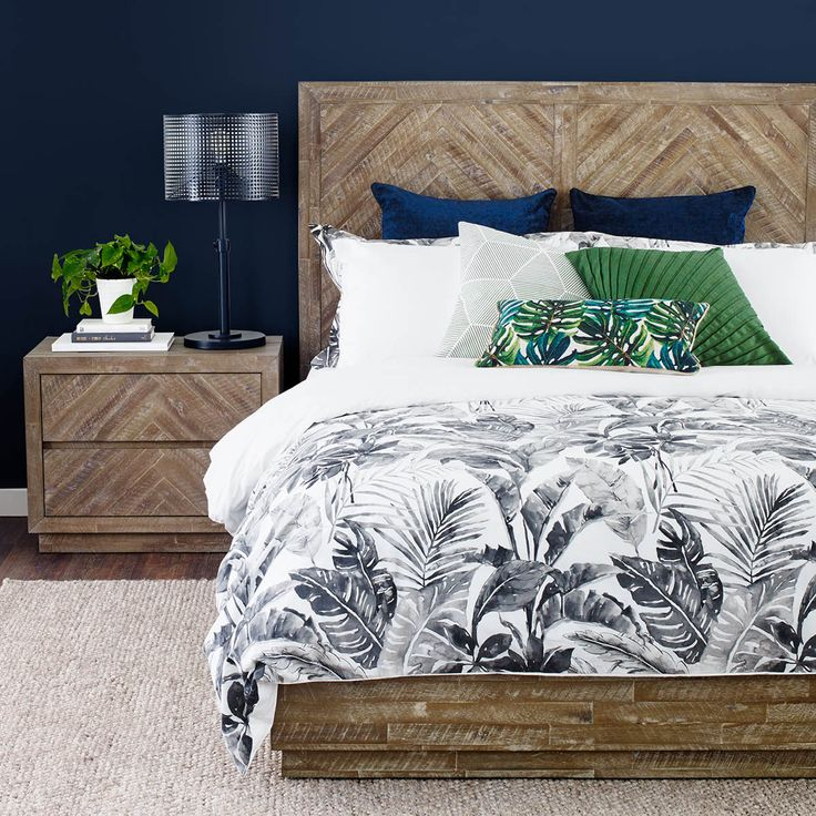 CALAIS STORAGE BED -BAIE ACACIA       It's all in the details. On the mark with current wood patterned aesthetics, the Calais Collection has clean lines free of hardware allowing its chevron tiling to be the main feature.