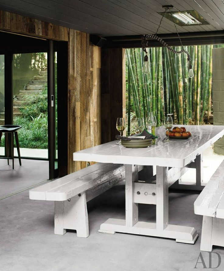 contemporary outdoor space by commune and commune in los angeles california picnic table
