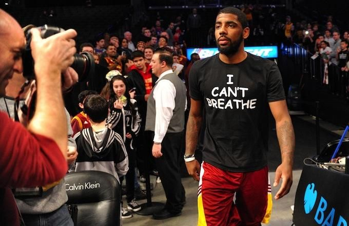 """LeBron James, Kyrie Irving, Kevin Garnett, Others Wear """"I Can't Breathe"""" T-Shirt Prior to Nets/Cavaliers Game"""