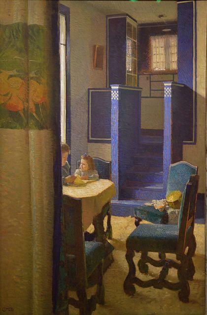 blastedheath:  Carl Moll (Austrian, 1861-1945), Salon in the the house on Hohen Warte, 1903. Oil on canvas. Wien Museum, Vienna.