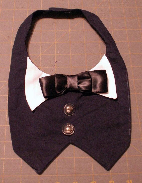 Chien Tuxedo Bib fabriqués à la main pour les par OBXPuparazzi