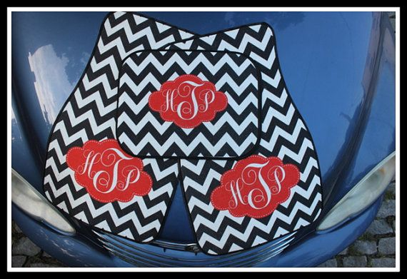 Monogrammed Car Mats by ChicMonogram, $75.00