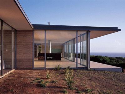 Rammed earth & windows