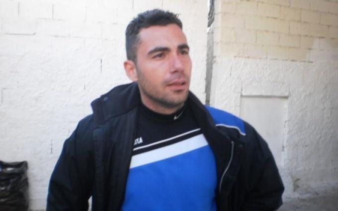 Αλέκου Κούρτογλου μετά το τέλος του νικηφόρου αγώνα του Ρούβα με την Προοδευτική.