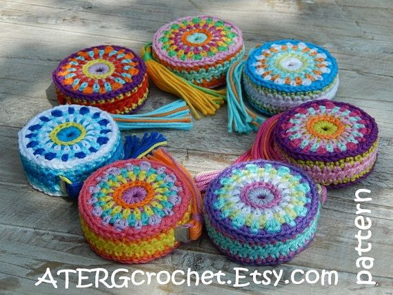 Crochet pattern tape measure cover by ATERGcrochet by ATERGcrochet