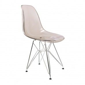 Eames DSR Ghost chair smoke grey
