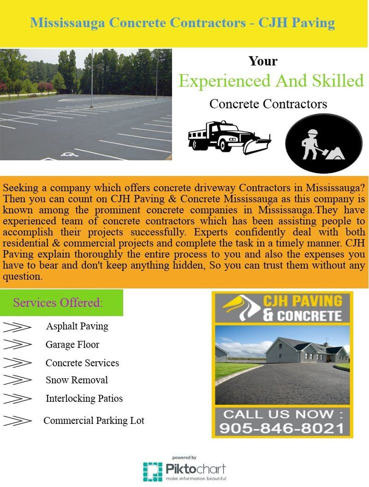 Being recognized as Mississauga's leading concrete contractors we are helping people to accomplish their concrete projects successfully. Our Experts confidently deal with both residential & commercial projects and complete the task in timely manners. There are many companies which claim to have best concrete contractors with them but the reality is something else. CJH Paving explain thoroughly the entire process to you and also the expenses you have to bear and don't keep anything hidden, So…
