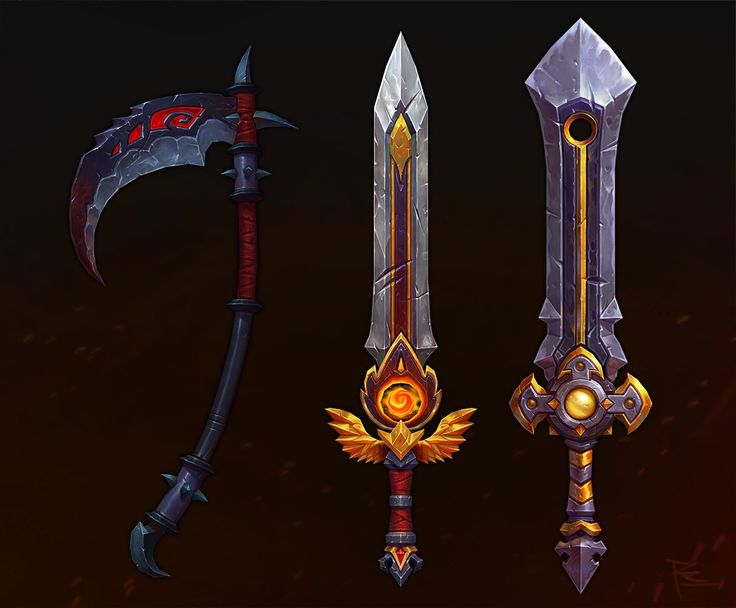 Hand Painted Weapons, rafael zanchetin on ArtStation at https://www.artstation.com/artwork/hand-painted-weapons-54b6bb8d-1e05-41da-917b-75a8fa2ed5a9