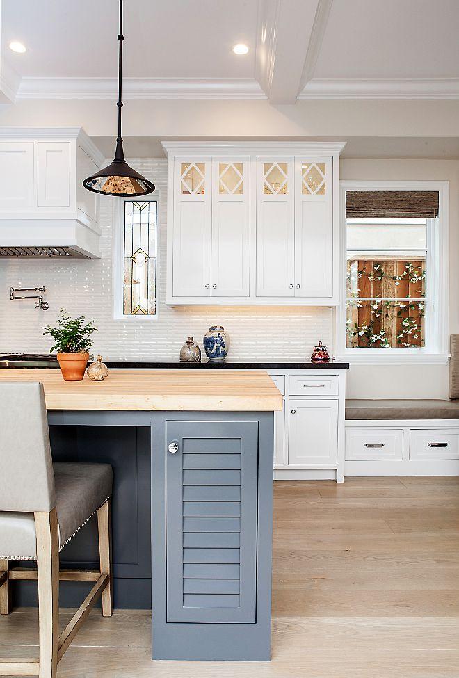 on Pinterest  Kitchen backsplash, Glass cabinets and White kitchens
