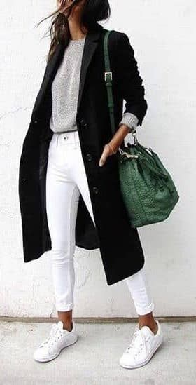 46 Work Attire For Starting Your Winter #stil #style #fashion #whitejeans