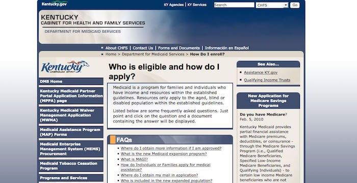 Kentucky Medicaid Sign Up - Register for CHFS.KY.gov ...