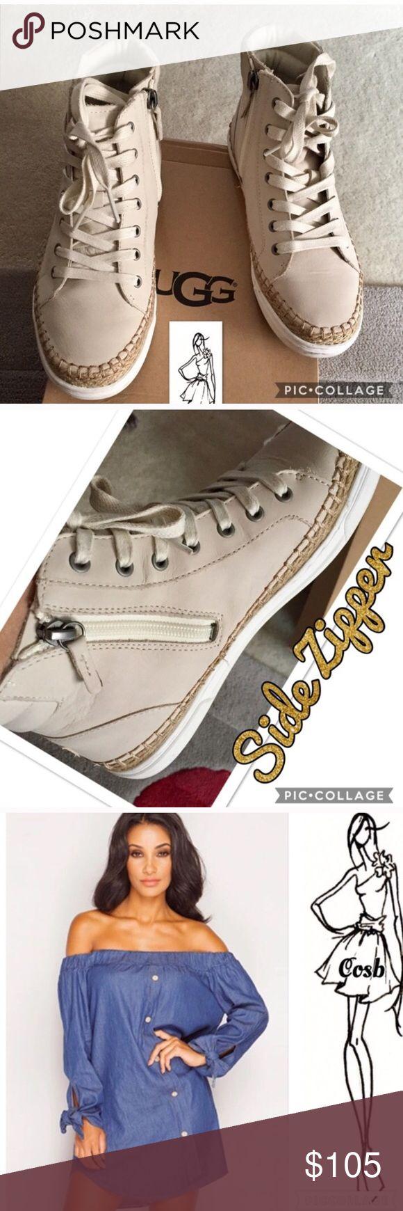 Bundle of Ugg Sneakers & Denim Top Ugg Wheat Color Sneakers & Denim off the shoulders top....See original listing for full description Other