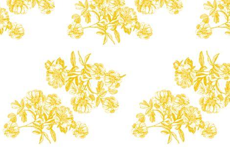 Flower Girl Gold Peonies fabric by stephanie on Spoonflower - custom fabric
