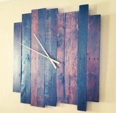 Amazing hand-crafted clock made from reclaimed pallet wood. $300