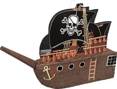 Pinata bateau de pirate  et un choix immense de décorations pas chères pour anniversaires, fêtes et occasions spéciales. De la vaisselle jetable à la déco de table, vous trouverez tout pour la fête sur VegaooParty