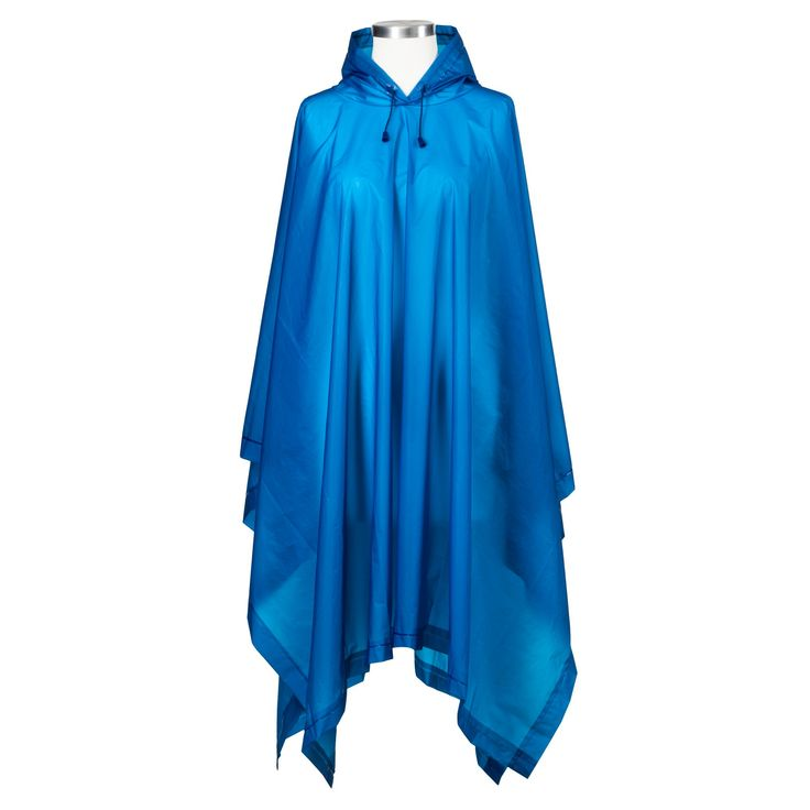 ShedRain Hooded Rain Ponchos - Blue, Adult Unisex