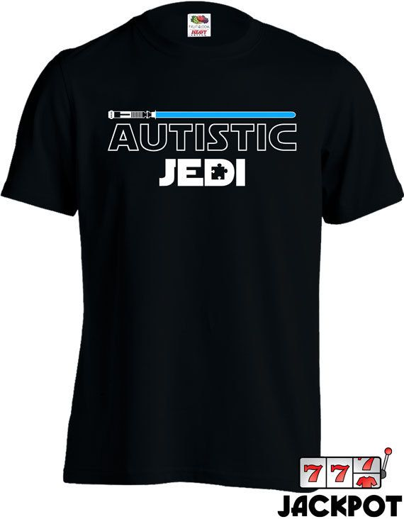 Autism Awareness Shirt Autistic Jedi T-Shirt Autism by JackPotTees
