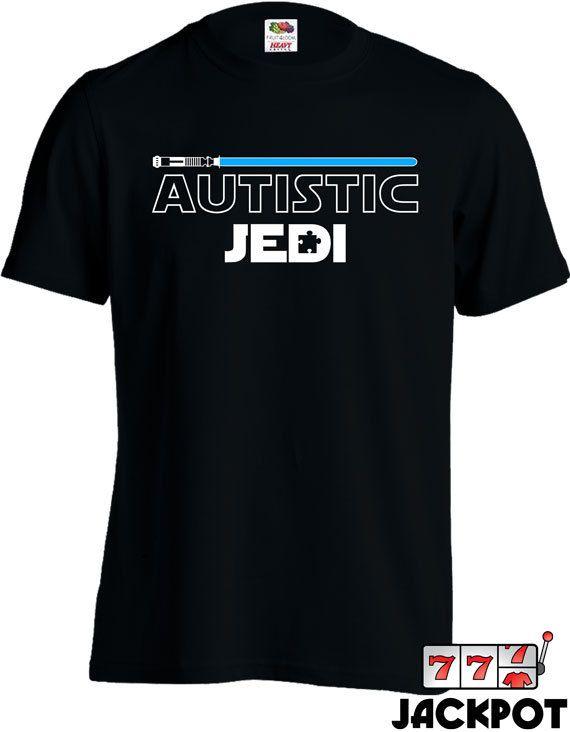 Autism Awareness Shirt Autistic Jedi T-Shirt Autism by JackPotTees