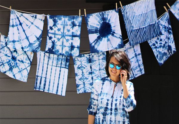 shibori técnica japonesa para tintar la ropa