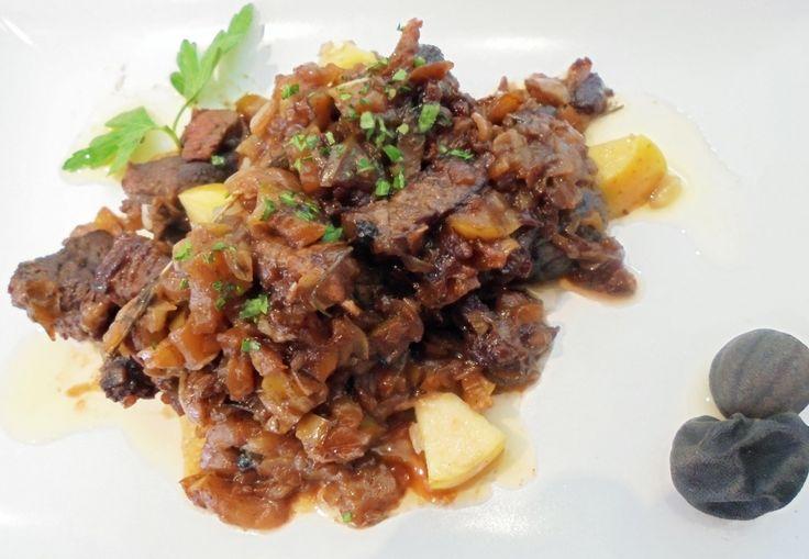Escalopines de Babilla de Ternera a la flamenca, con limón deshidratado http://www.eblex.es/ver_recetas_gourmet.php?id_receta=174 #recetas #gastronomía #cocina