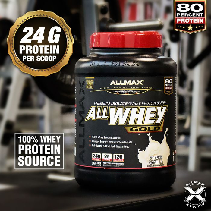 Are you looking for the most superior blend of #wheyprotein out there? Well, look no further, your muscle mass gains are here to stay, along with the best taste of #ALLWHEYGold! If you want results to achieve your fitness goals, ALLWHEY Gold boasts a whopping 80% yield – 24g of protein in every 30 g serving – delivering clean, complete and whole protein, sourced from 100% whey protein and zero non-protein aminos added.