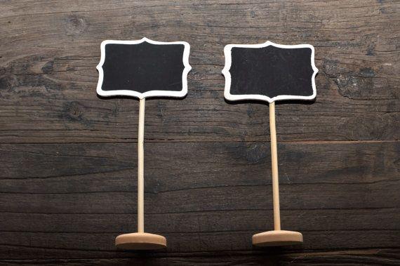 5/pk Mini tableau noir signe w / Stand, numéros de Table Tableau noir