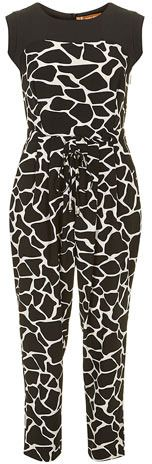 $57, Jolie Moi Black Animal Print Jumpsuit by Dorothy Perkins. Sold by Dorothy Perkins. Click for more info: http://lookastic.com/women/shop_items/54742/redirect