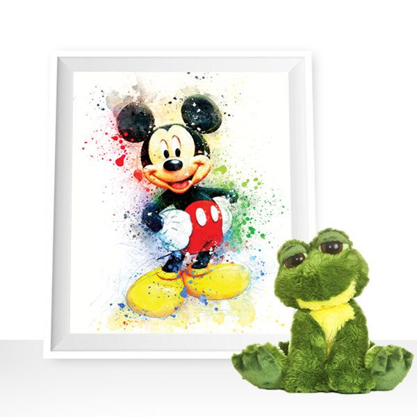Mickey Mouse wall art, mickey mouse Watercolor mickey mouse printables mickey mouse Art Print, mickey mouse decor Disney Wall Art Disney art by HappyLittleFrog on Etsy