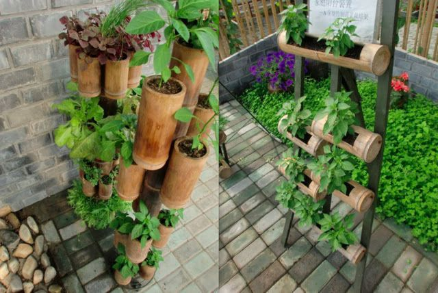 Farmer Tyler's Plant Projects and More: Bamboo Planters