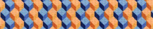 Country Brook Design 1 Inch Blue and Tangerine Cubes Polyester Webbing, 50 Yards. 100% Polyester. Approximately .078 inch or 2.02mm thick. 1200 lbs tensile strength. Melting point of 500 degrees Fahrenheit. UV, Rot, mildew and Moisture Resistant.