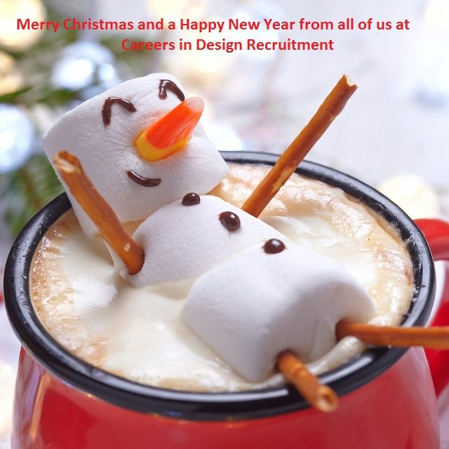 Merry Christmas and a Happy New Year from all of us at Careers in Design Recruitment, www.careersindesign.com.
