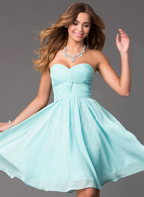 Bridesmaid Dresses - $98.00 - A-Line/Princess Strapless Sweetheart Knee-Length…