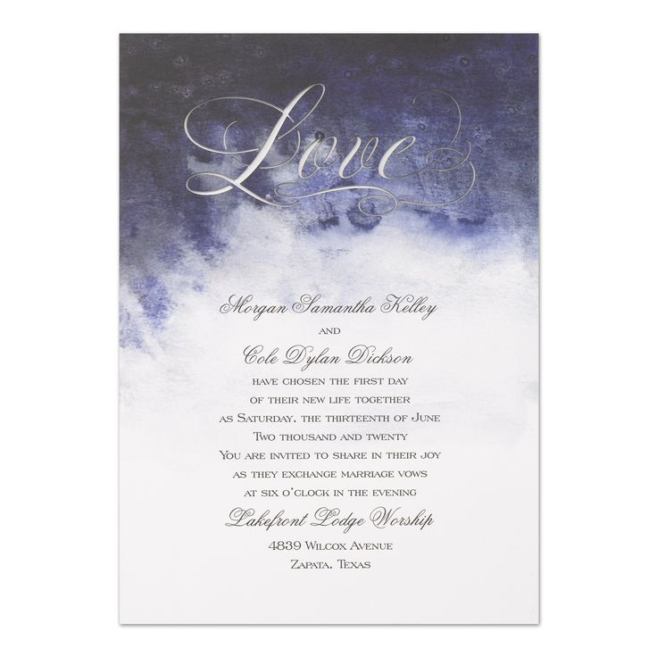 box wedding invitations online%0A Enchanting Love  Invitation