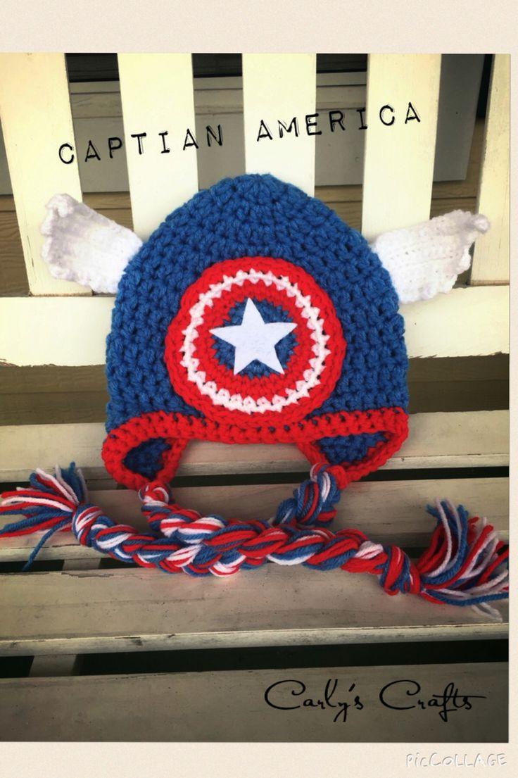 Dorable Crochet Captain America Hat Pattern Crest - Blanket Knitting ...