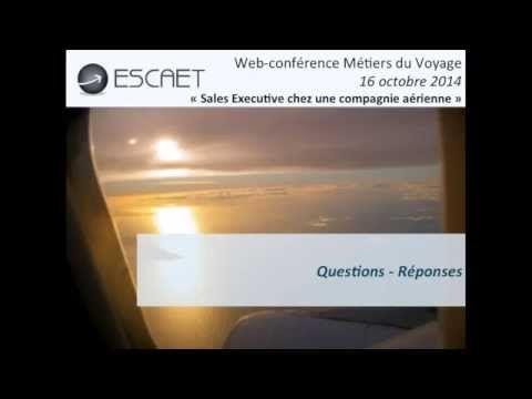 Web-conférence ESCAET : Sales Executive dans une compagnie aérienne. #Formation #métier #tourisme