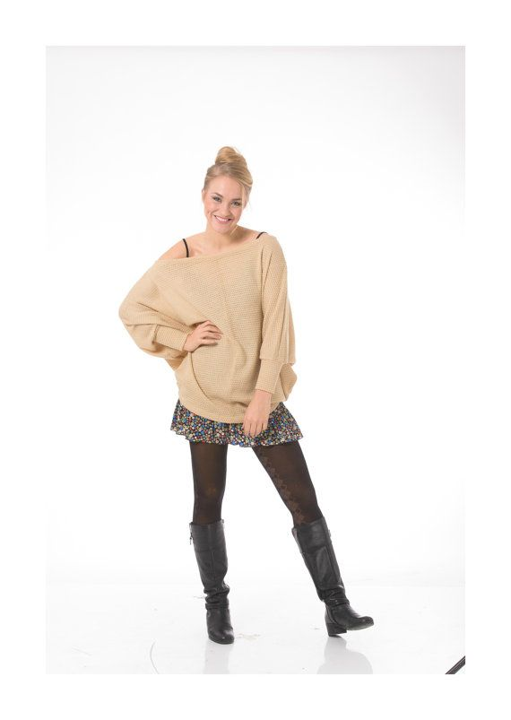 Oversized sweater, Long sleeve oversized sweater, Pullover sweater, Off the shoulder sweater, Plus size sweater 3