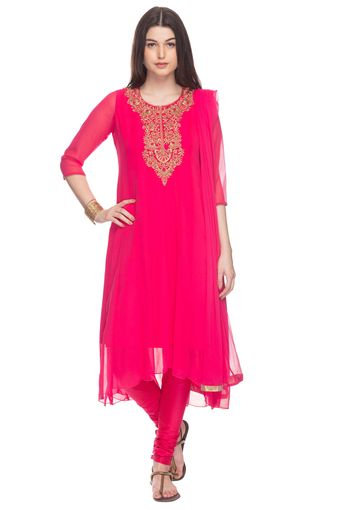 Womens Solid Churidar Suit