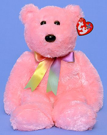 TY Beanie Buddy - Sherbet the Bear (pink)