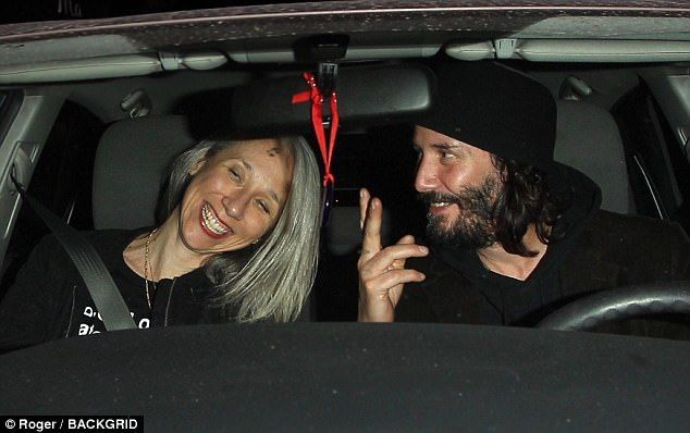 Keanu Reeves silver haired mystery girl is an artist and