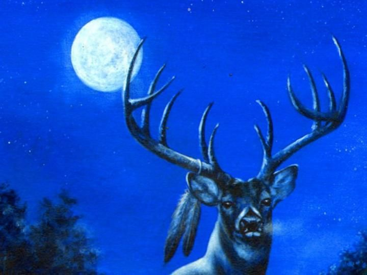 Full Buck Moon / July is the month of the Full Buck Moon. Bucks begin to grow new antlers at this time. This Full Moon was also known as the Thunder Moon because thunderstorms are so frequent during this month.