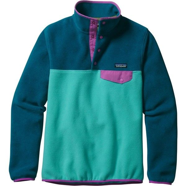 Patagonia Synchilla Lightweight Snap-T Fleece Pullover ($79) ❤ liked on Polyvore featuring patagonia