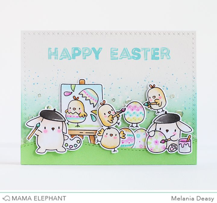 Hi everyone! Welcome to the Mama Elephant Design Team Blog Hop! This month release is so amazing because there's cute and gorgeous stamps an...