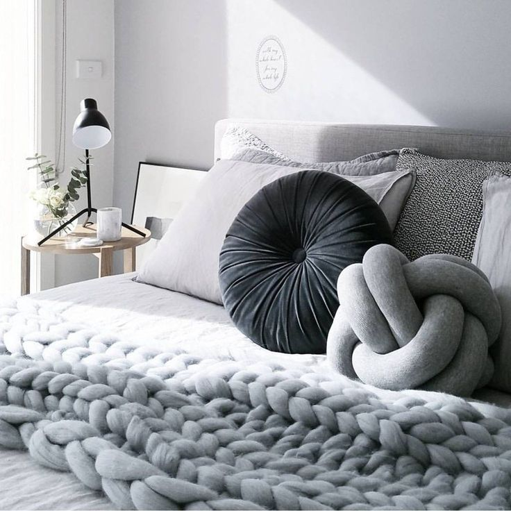 """DESCRIPTION The Knot Cushion is the ultimate accessory for your home, couch or bed. Made from a cotton blend fabric they are soft to touch and squeeze. approx 11"""" 